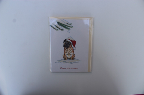 BOXER DOG CHRISTMAS GREETINGS CARD